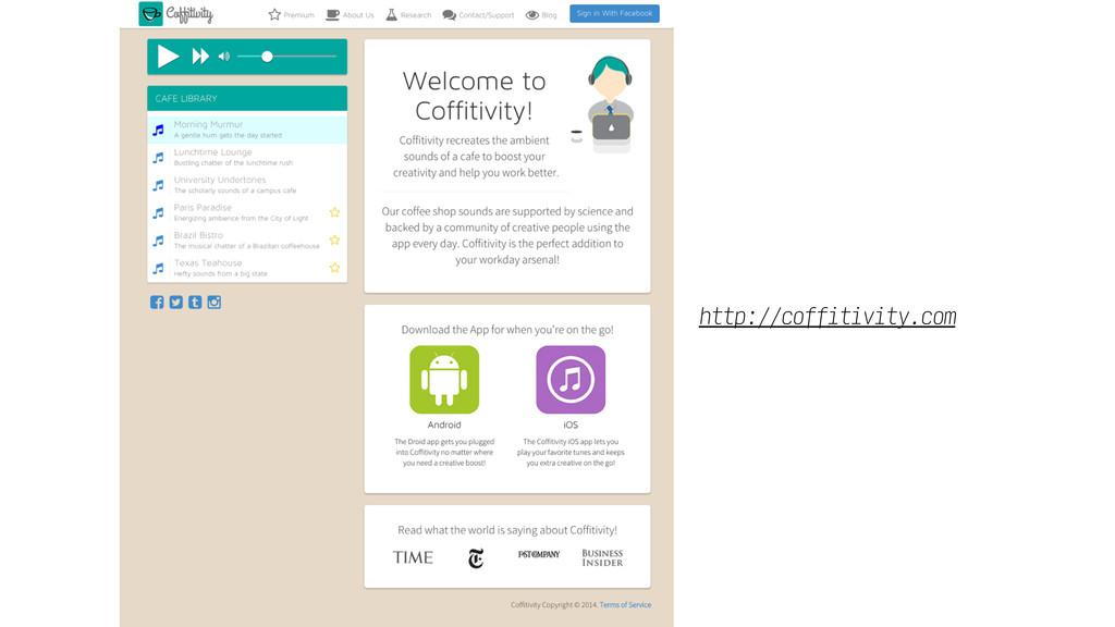 http://coffitivity.com