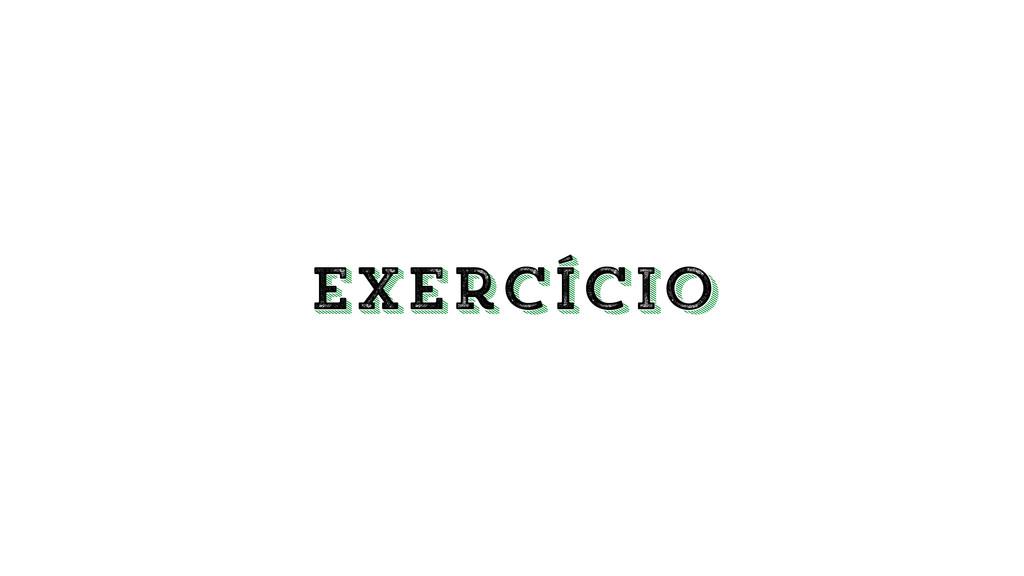 exercício exercício