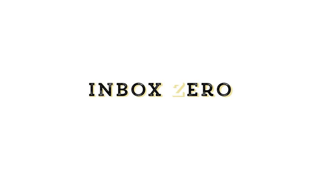 inbox zero Inbox zero