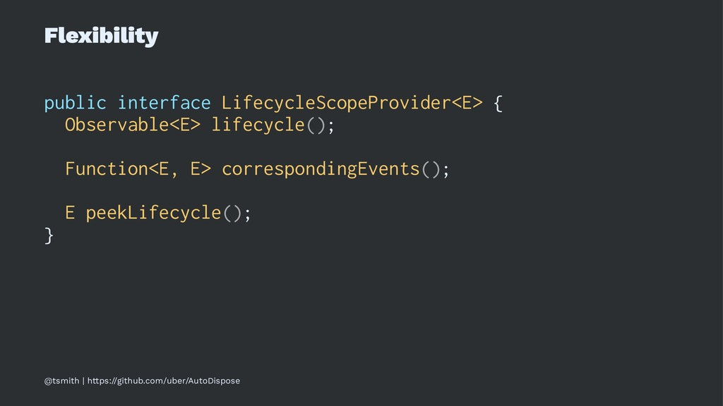 Flexibility public interface LifecycleScopeProv...