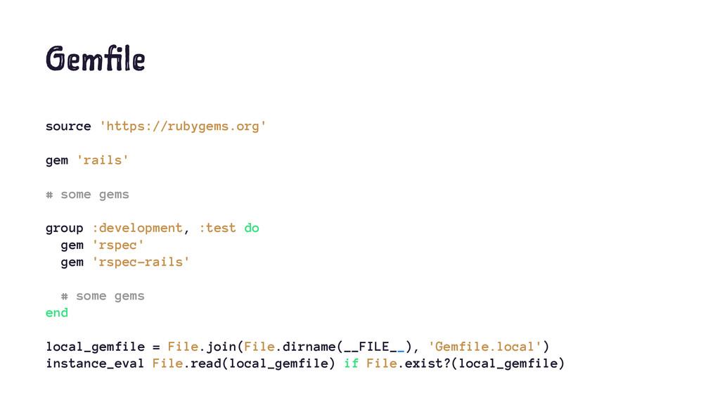Gemfile source 'https://rubygems.org' gem 'rail...