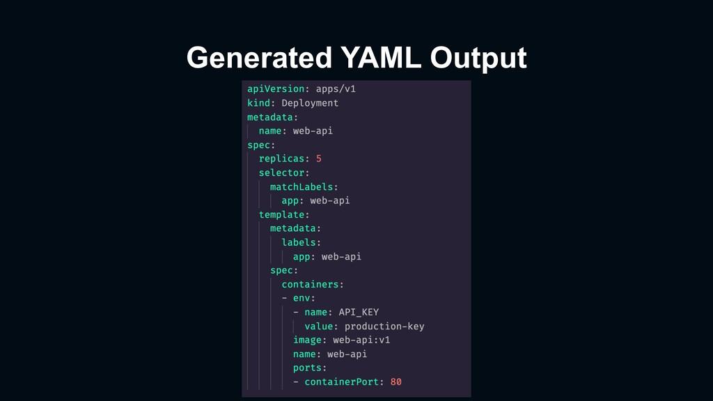 Generated YAML Output