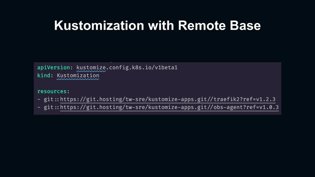 Kustomization with Remote Base