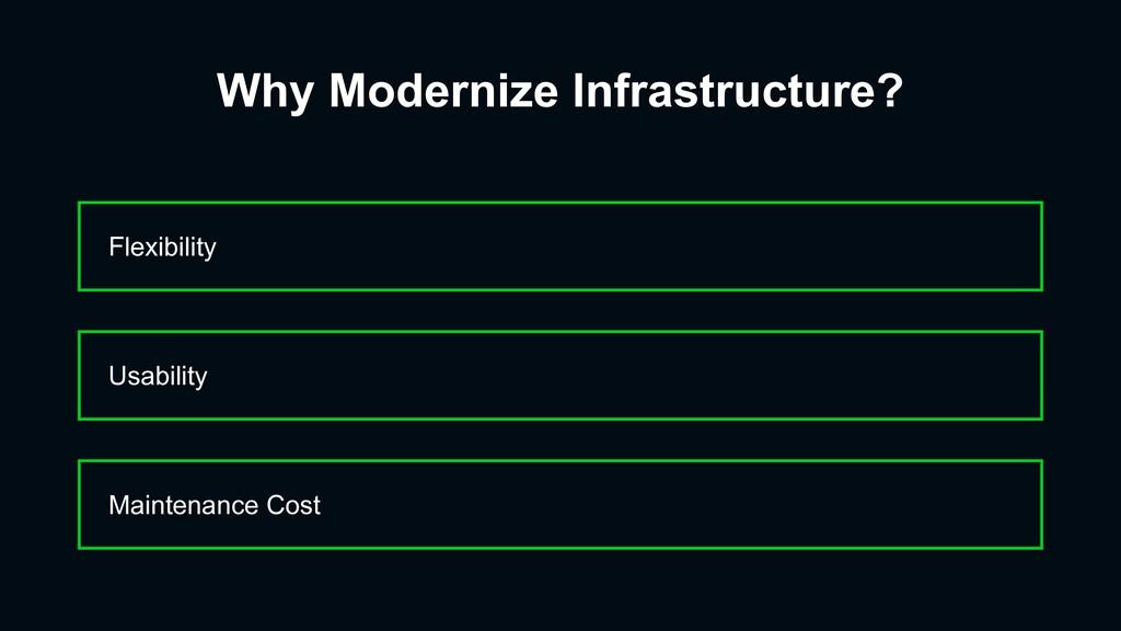 Why Modernize Infrastructure? Flexibility Maint...