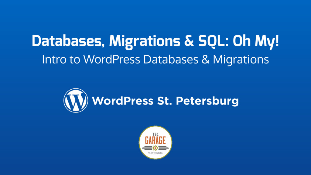 Databases, Migrations & SQL: Oh My! Intro to Wo...