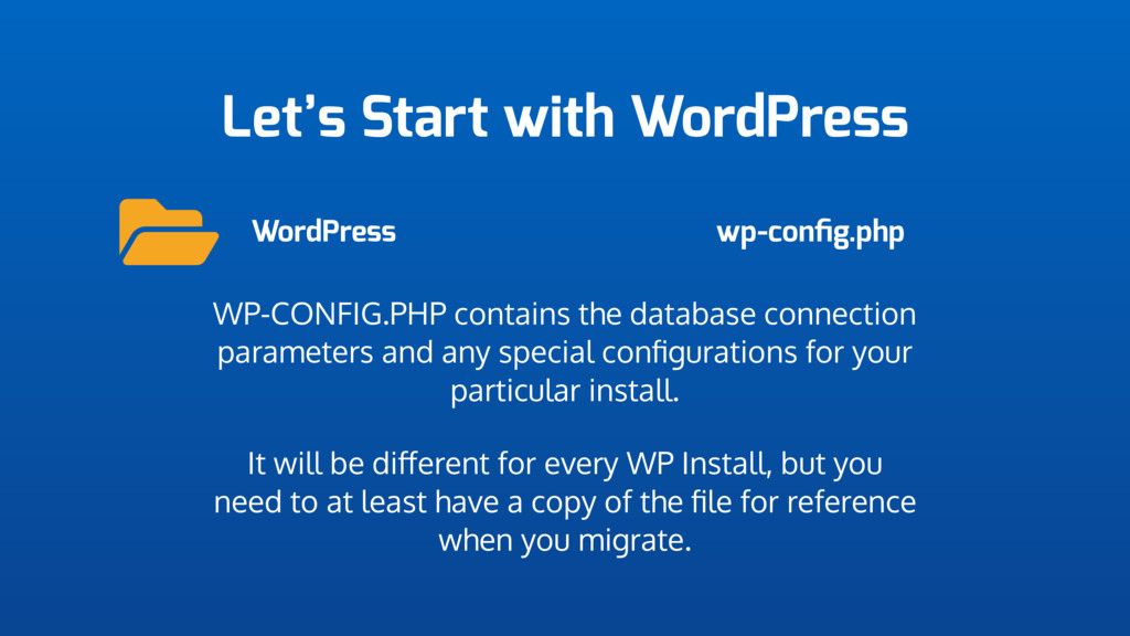 Let's Start with WordPress WordPress wp-config.p...