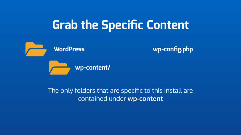 Grab the Specific Content WordPress wp-content/ ...