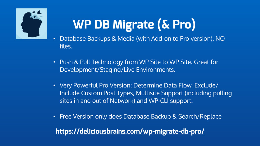 WP DB Migrate (& Pro) • Database Backups & Medi...