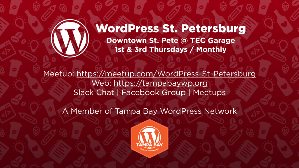 WordPress St. Petersburg Downtown St. Pete @ TE...