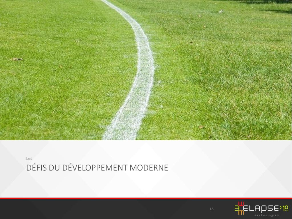 DÉFIS DU DÉVELOPPEMENT MODERNE Les 18