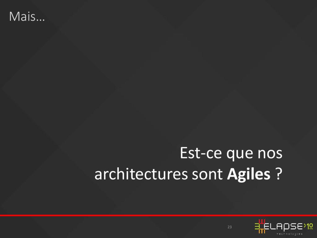 23 Est-ce que nos architectures sont Agiles ? M...