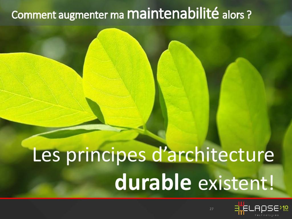 Les principes d'architecture durable existent! ...
