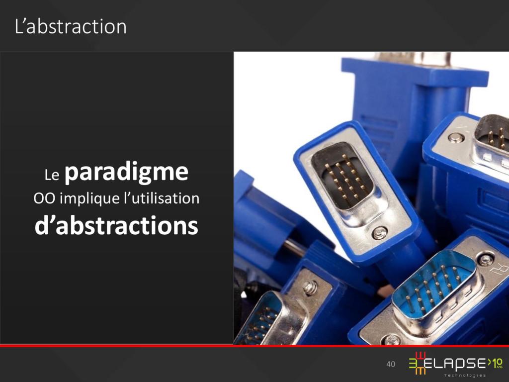 L'abstraction Le paradigme OO implique l'utilis...