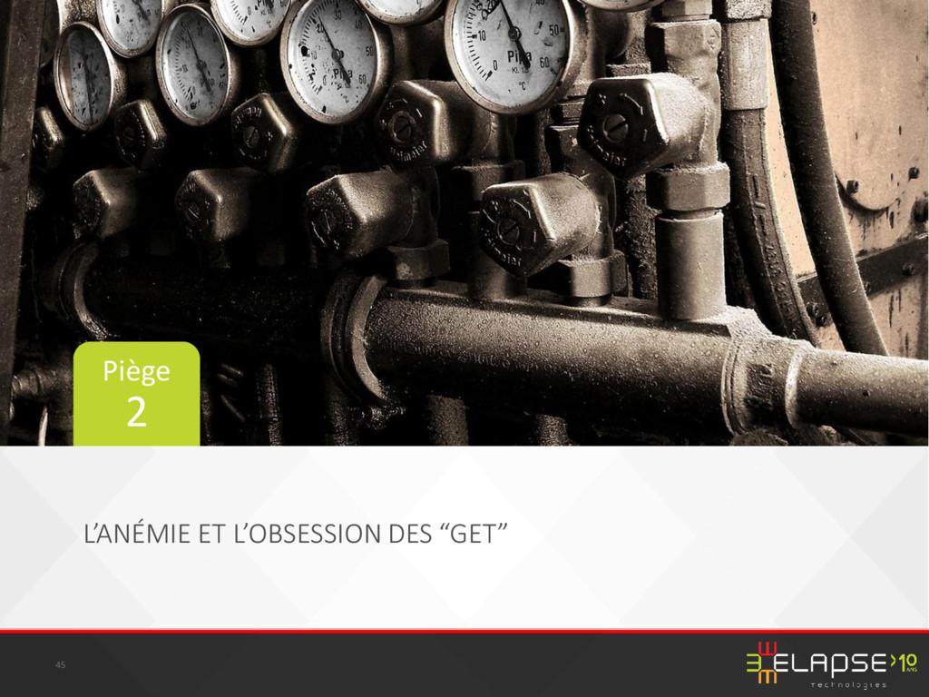 """L'ANÉMIE ET L'OBSESSION DES """"GET"""" 45 Piège 2"""