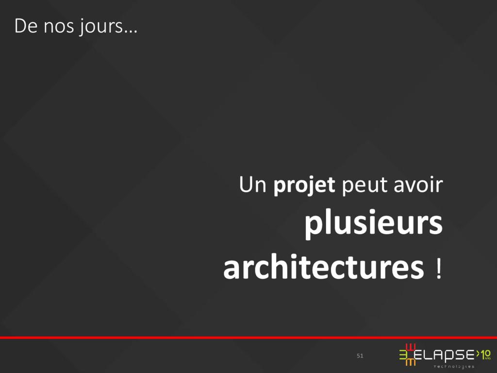 51 Un projet peut avoir plusieurs architectures...