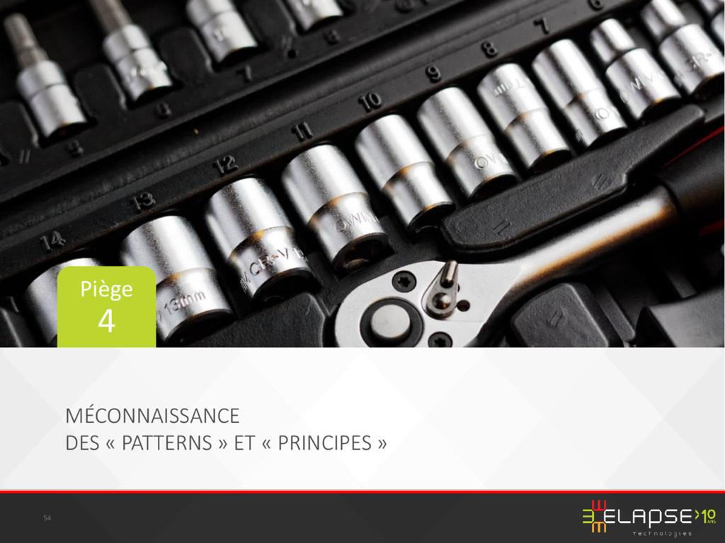 MÉCONNAISSANCE DES « PATTERNS » ET « PRINCIPES ...