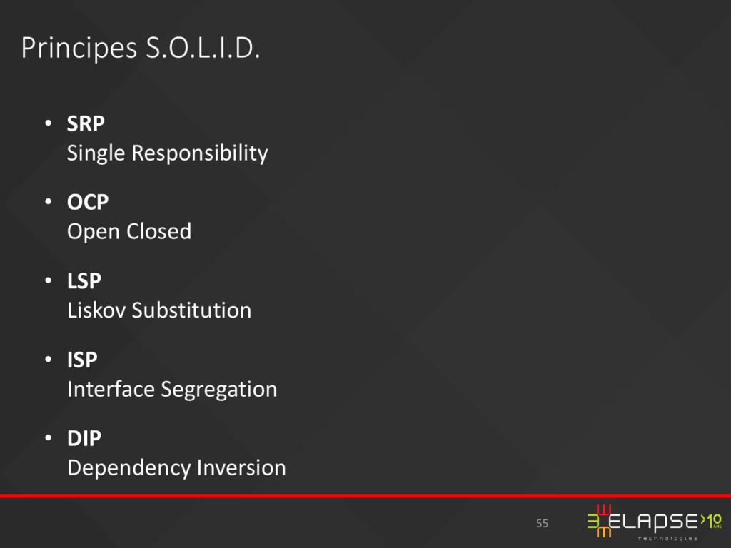 • SRP Single Responsibility • OCP Open Closed •...