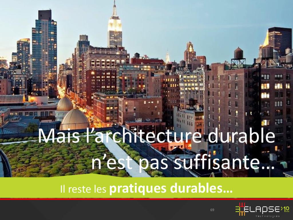 69 Mais l'architecture durable n'est pas suffis...