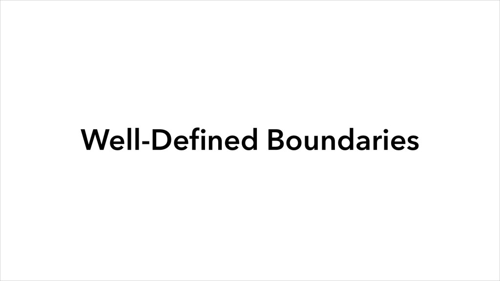 Well-Defined Boundaries