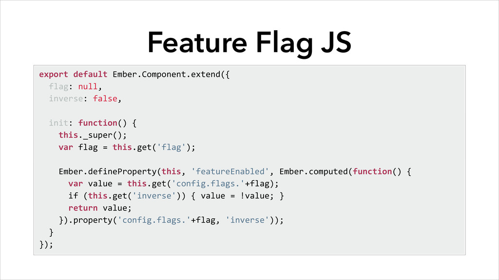 Feature Flag JS export	