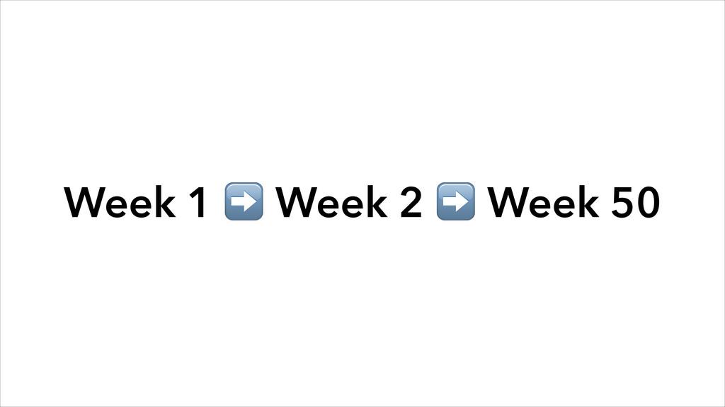Week 1 ➡️ Week 2 ➡️ Week 50