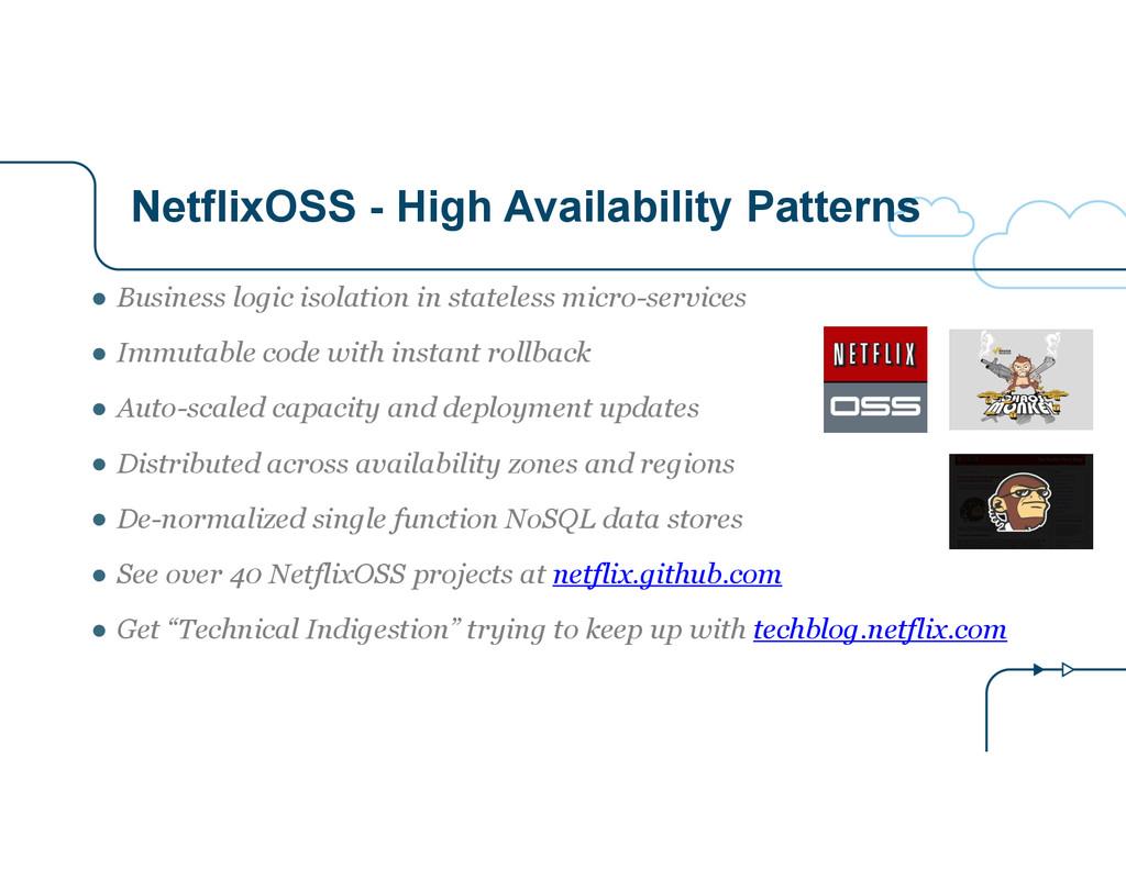 NetflixOSS - High Availability Patterns ● Busin...