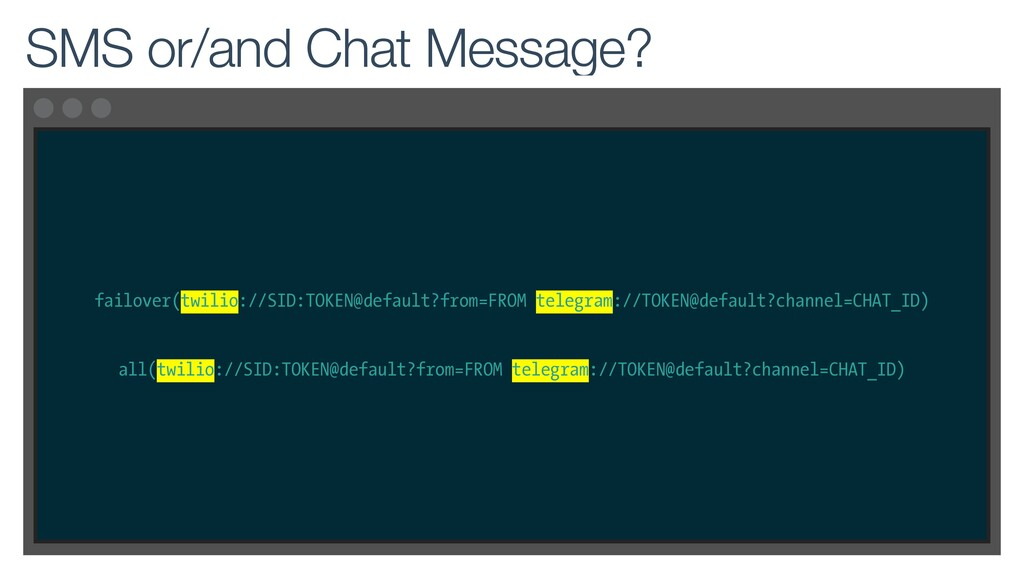failover(twilio://SID:TOKEN@default?from=FROM t...