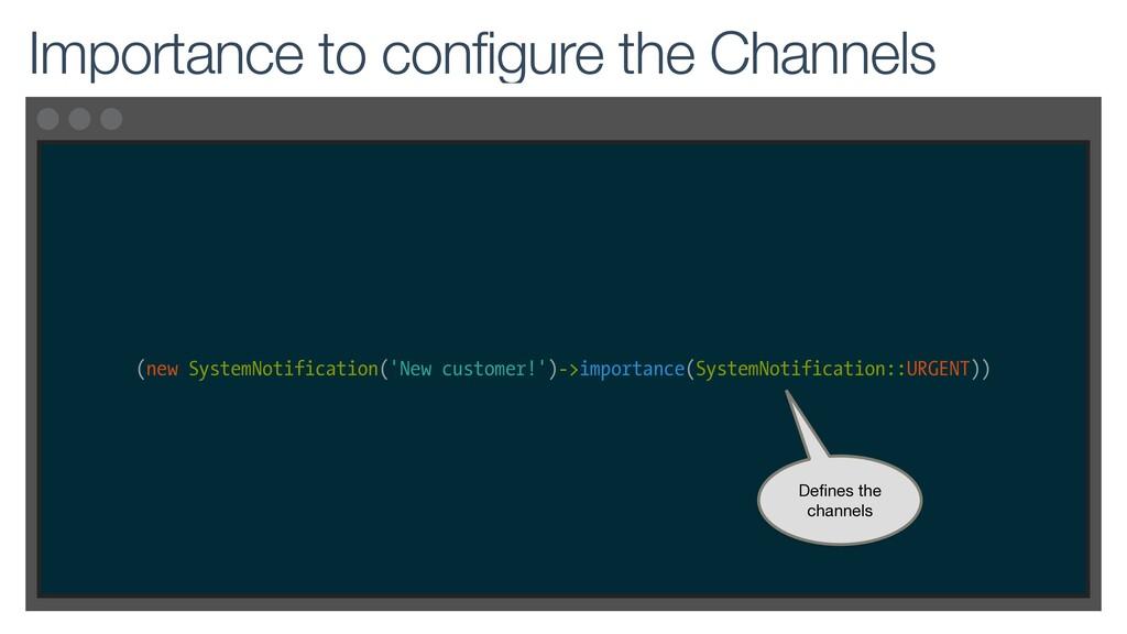 (new SystemNotification('New customer!')->impor...