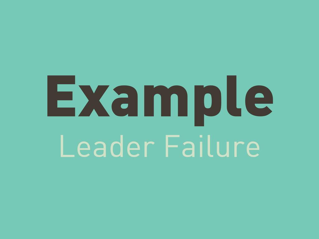 Example Leader Failure