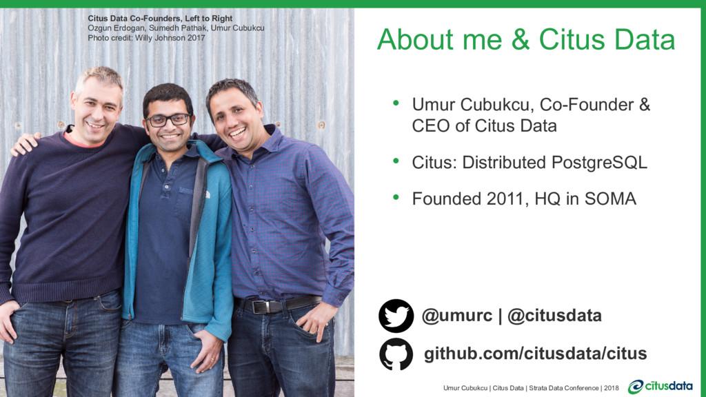 2 Umur Cubukcu | Citus Data | Strata Data Confe...