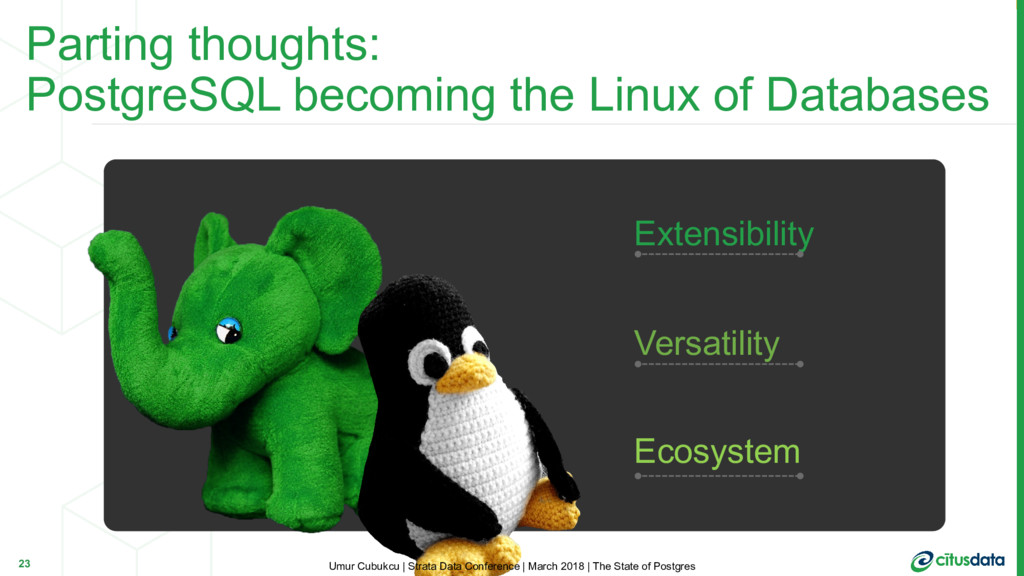 Parting thoughts: PostgreSQL becoming the Linux...