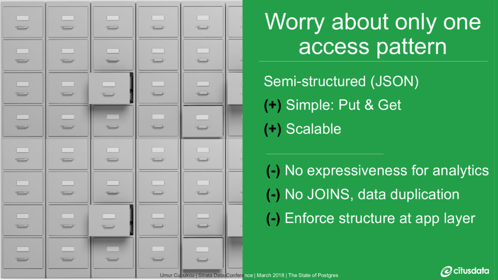 10 Worry about only one access pattern (-) No e...