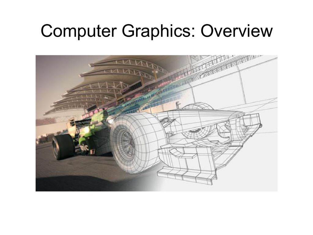 Computer Graphics: Overview