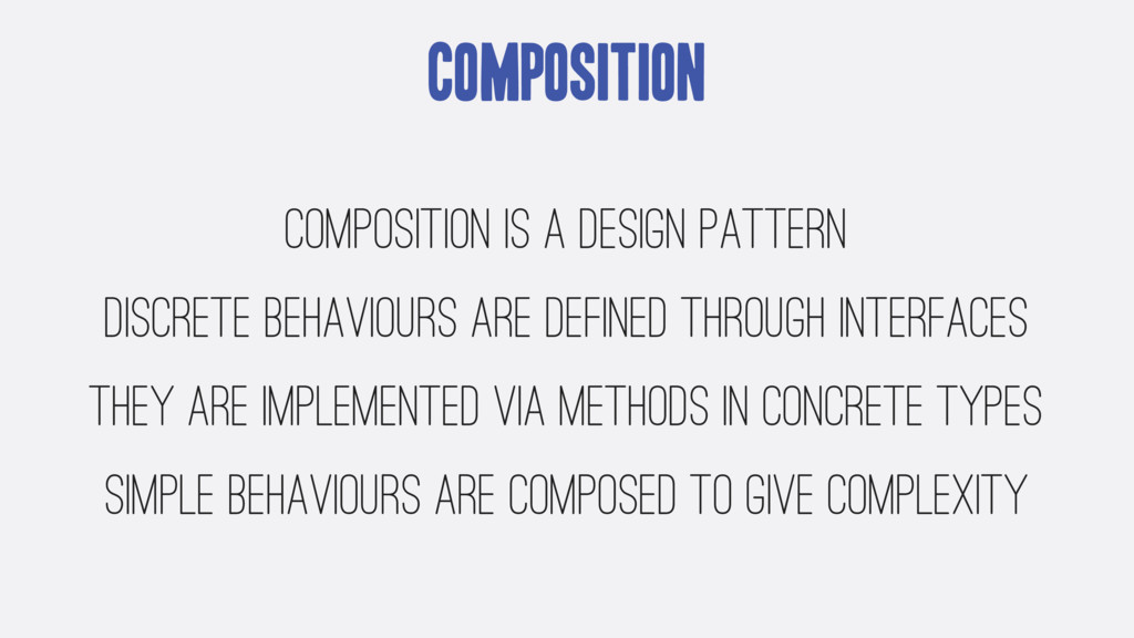 Composition Composition is a design pattern dis...