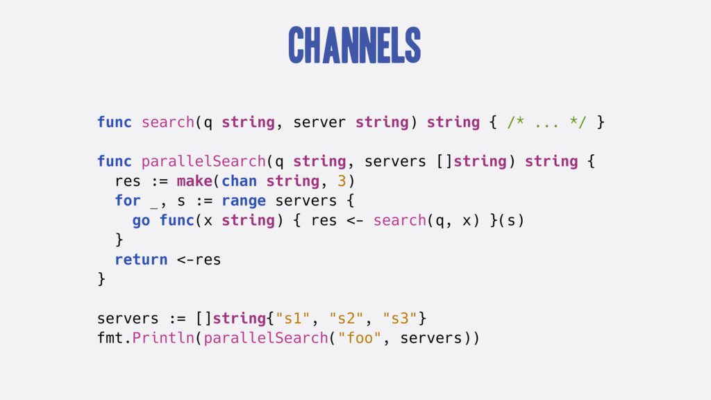 Channels func search(q string, server string) s...