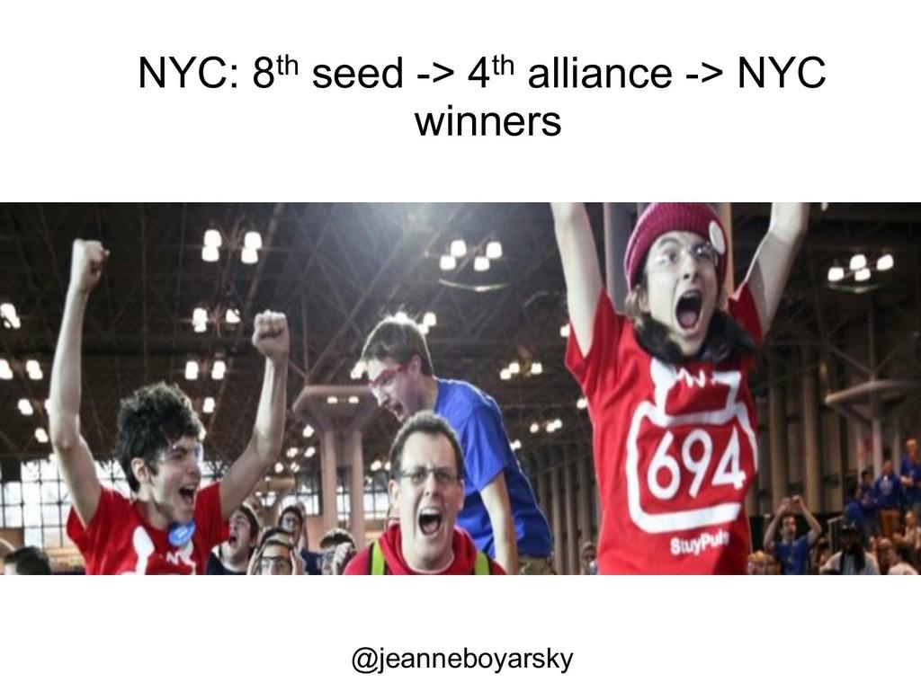 NYC: 8th seed -> 4th alliance -> NYC winners @j...