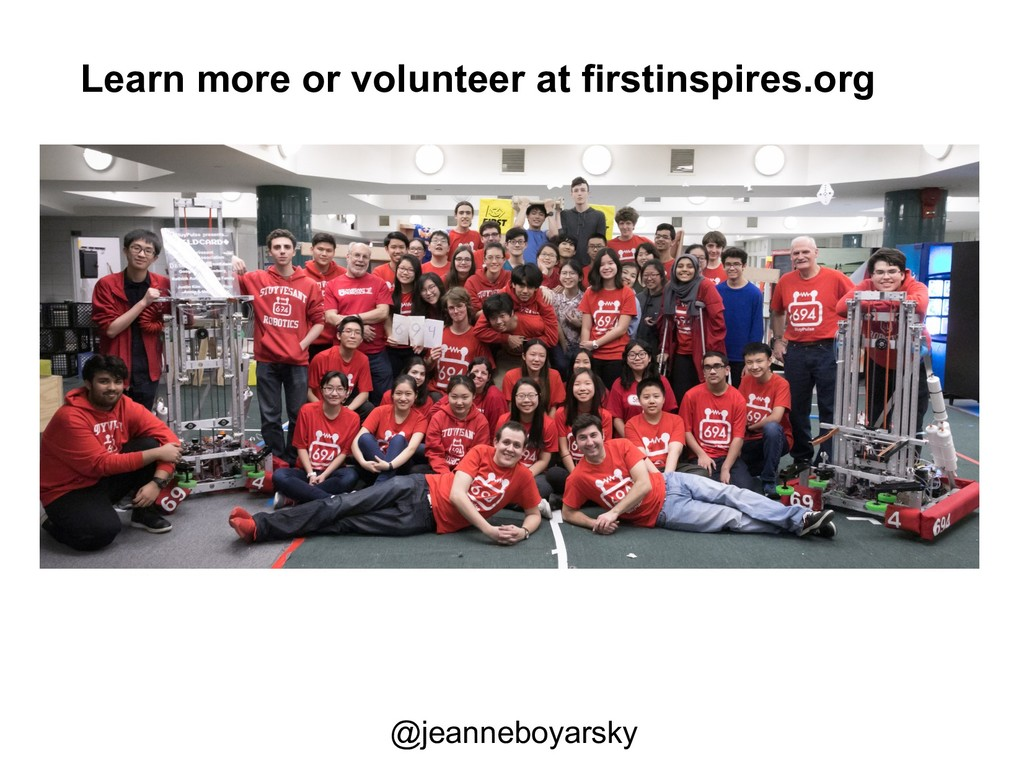 Volunteer with a team or at an event firstinspi...