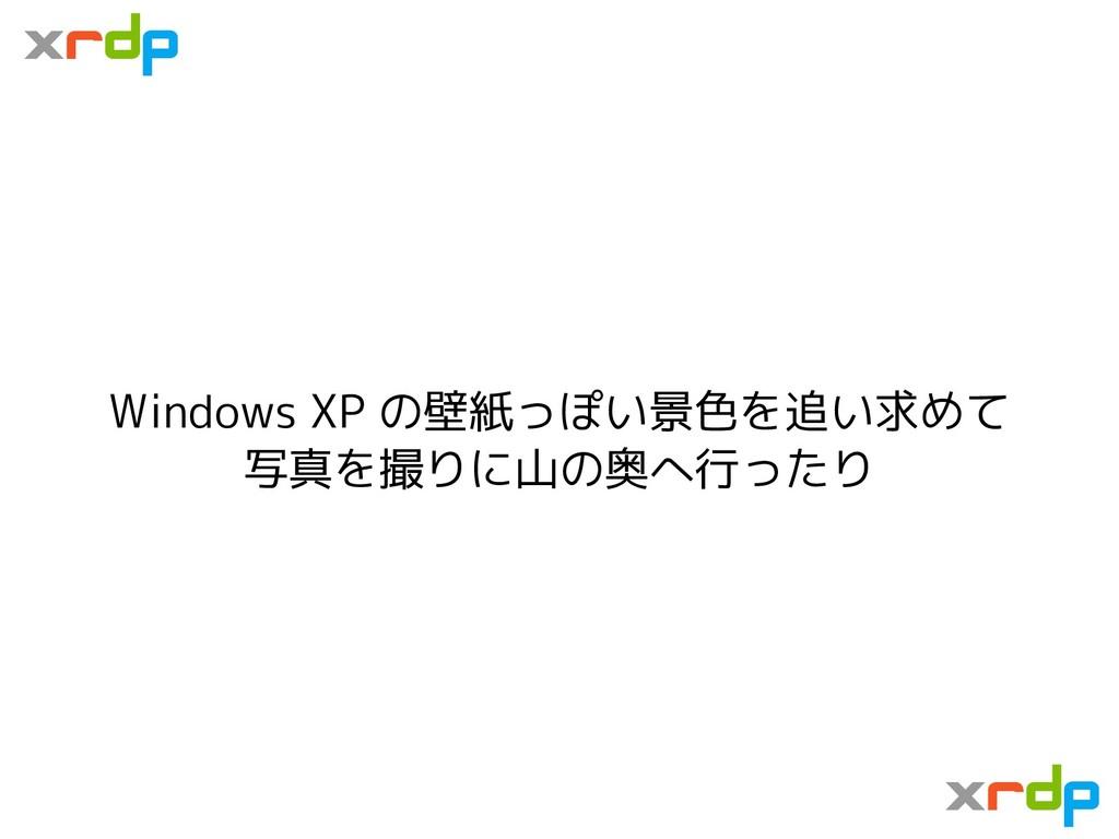 Windows XP の壁紙っぽい景色を追い求めて 写真を撮りに山の奥へ行ったり