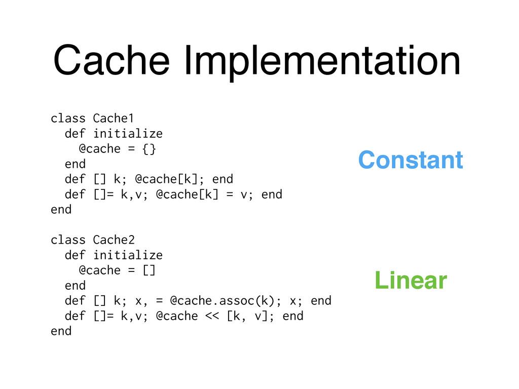Cache Implementation class Cache1 def initializ...