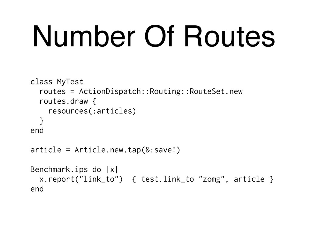 Number Of Routes class MyTest routes = ActionDi...
