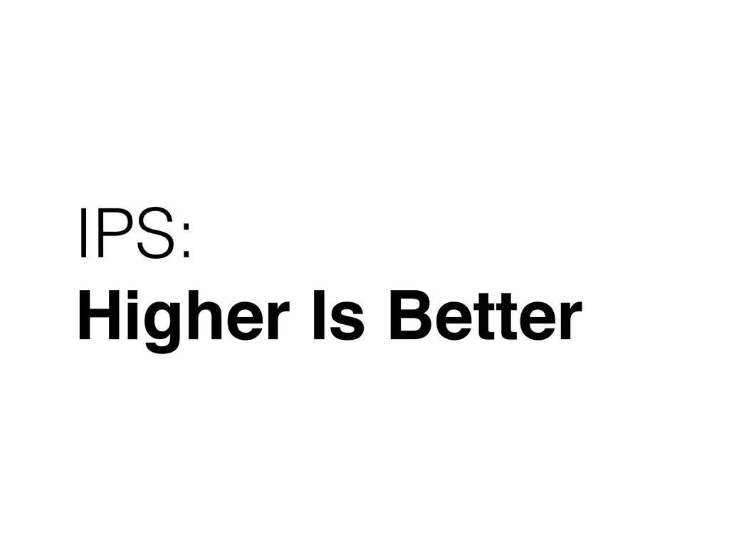 IPS: Higher Is Better