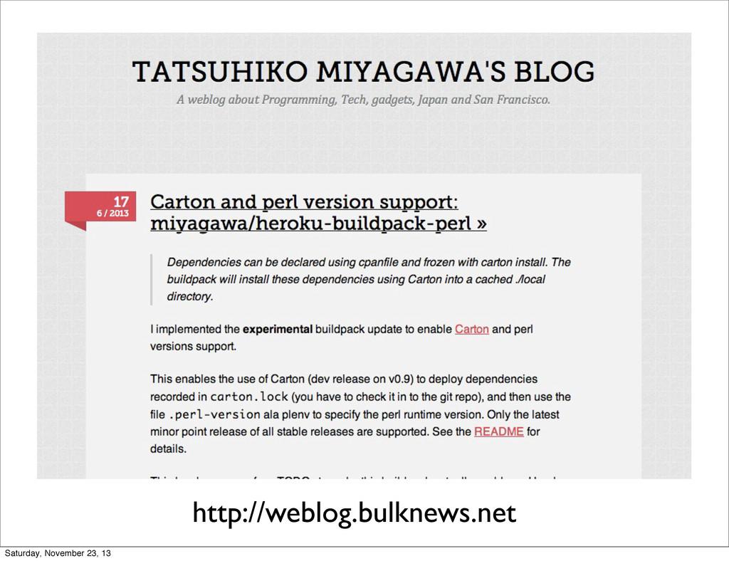 http://weblog.bulknews.net Saturday, November 2...