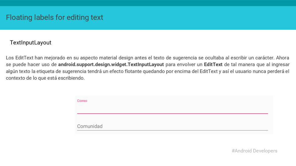 Floating labels for editing text TextInputLayou...