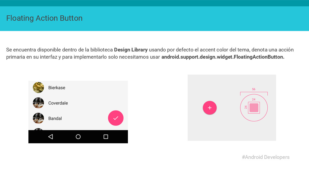 Floating Action Button Se encuentra disponible ...