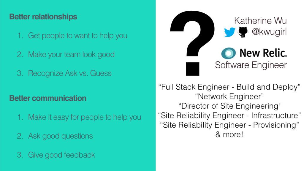 Katherine Wu @kwugirl Software Engineer Better ...