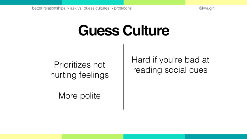 @kwugirl Guess Culture better relationships > a...