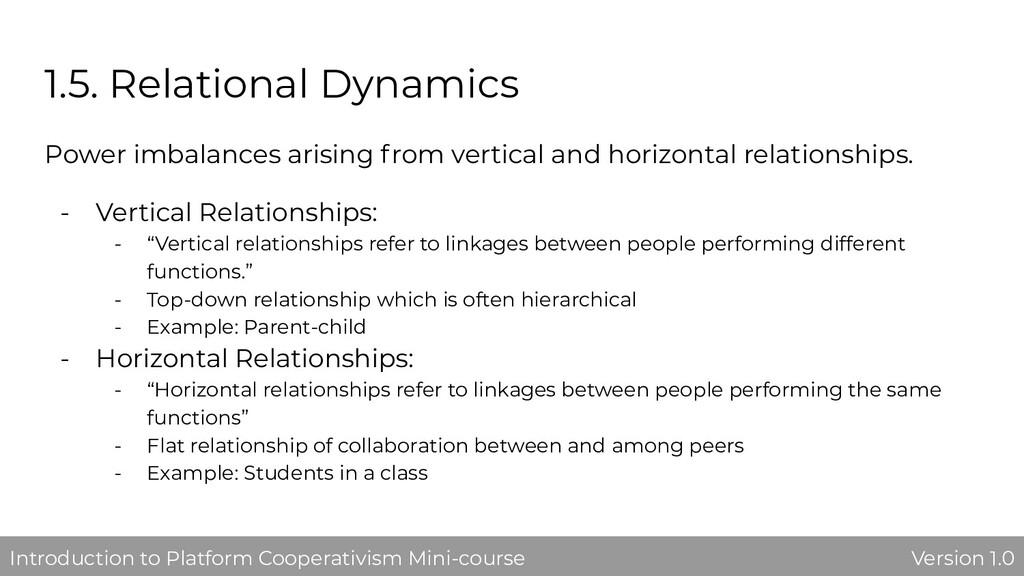 1.5. Relational Dynamics Power imbalances arisi...
