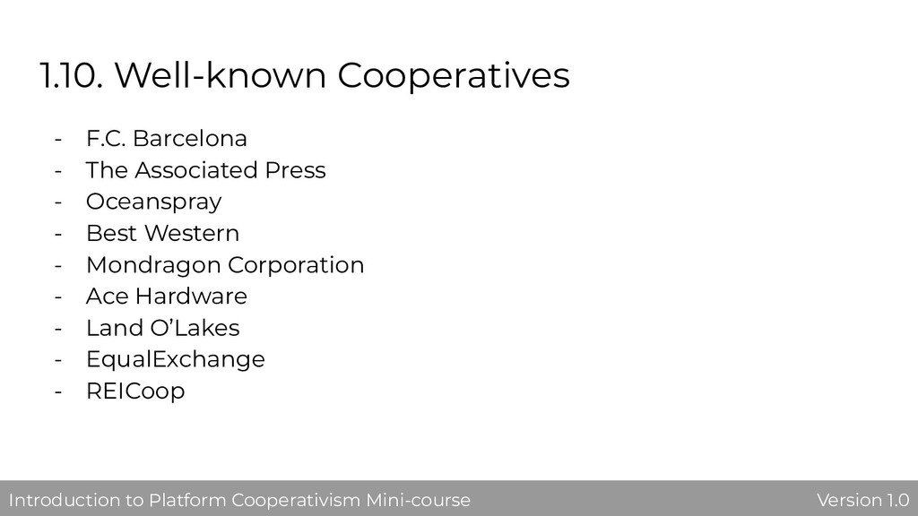 1.10. Well-known Cooperatives - F.C. Barcelona ...