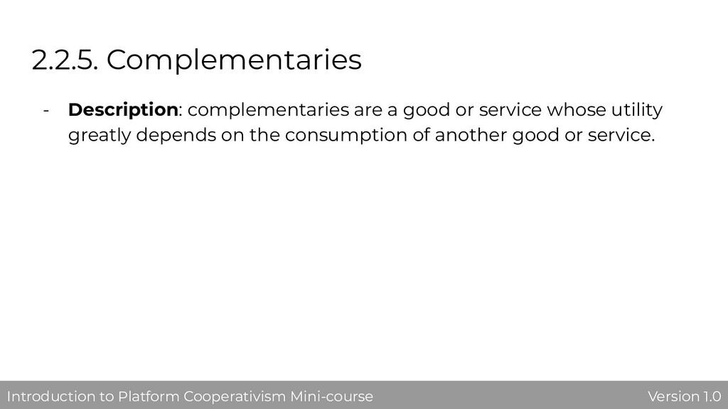 2.2.5. Complementaries - Description: complemen...