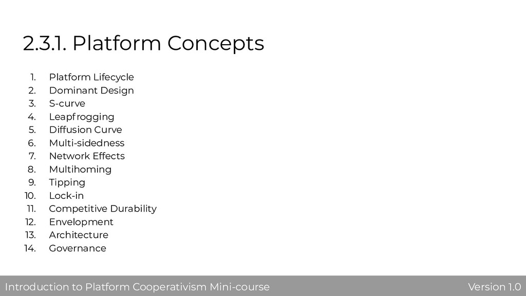 2.3.1. Platform Concepts 1. Platform Lifecycle ...